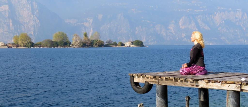 Menschenseelenallein am Gardasee