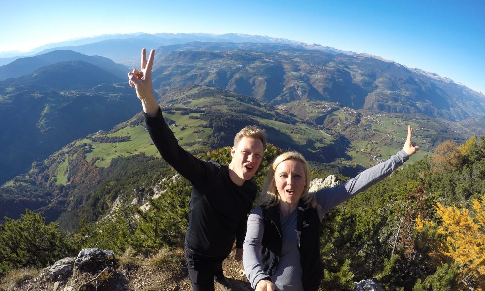 Endlich auf Weltreise. Völsegg-Spitz Südtirol 2015