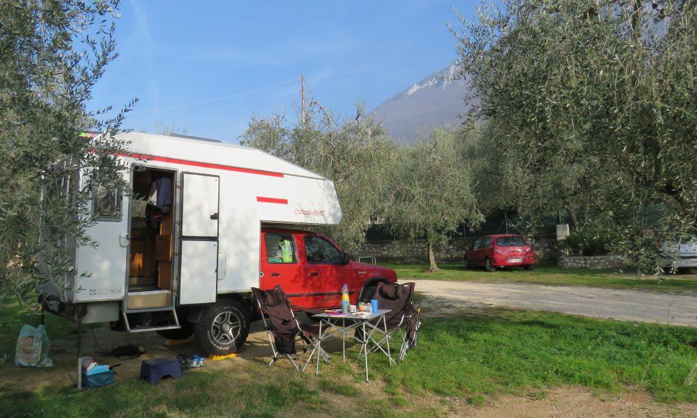 Der kleine Campingplatz Punto Verde hat sogar noch geöffnet