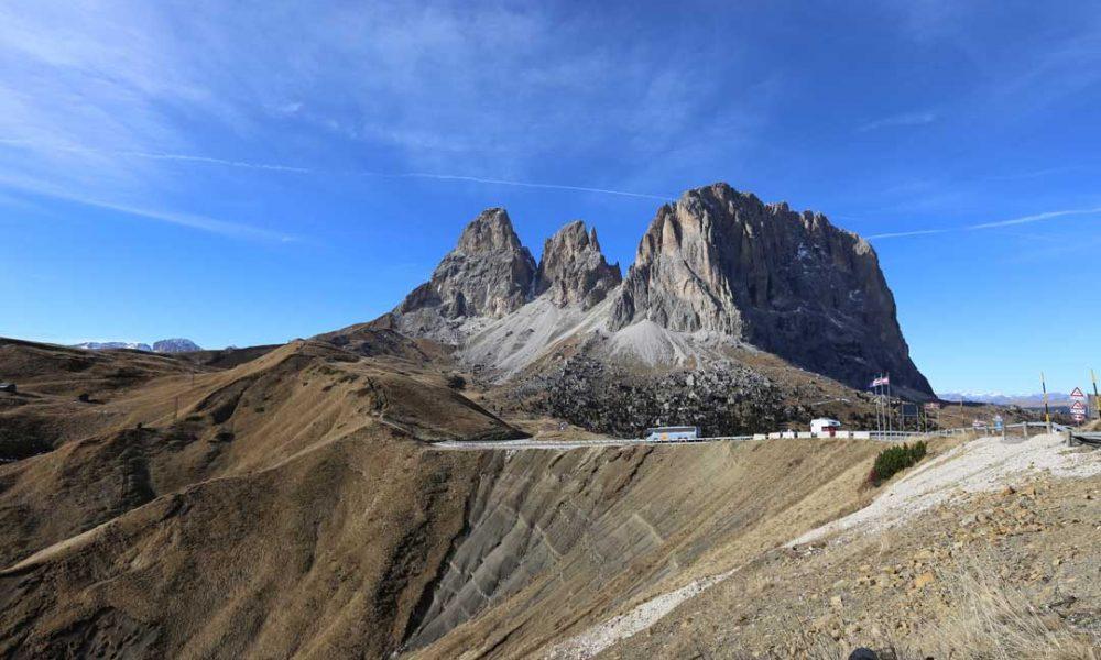 Dolomiten Rundfahrt am Sella Pass
